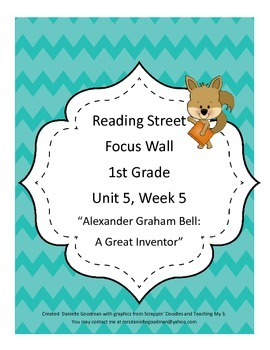 Alexander Graham Bell Focus Wall Posters 1st Grade Reading