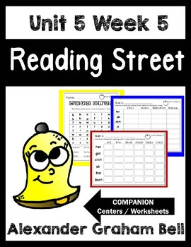 Alexander Graham Bell. Unit 5 Week 5 Reading Street.Center