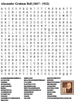 Alexander Graham Bell Word Search