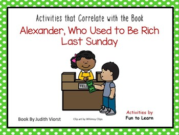 Alexander, Who Use to Be Rich Last Sunday ~ 43 pgs. Common