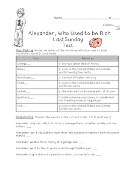 Alexander, Who Used to be Rich Last Sunday test
