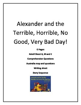 Alexander and the No Good Very Bad Day