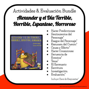 Spanish Reading Comprehension - Alexander y el Día Terribl