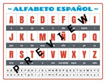 Alfabeto Español (Spanish Alphabet)