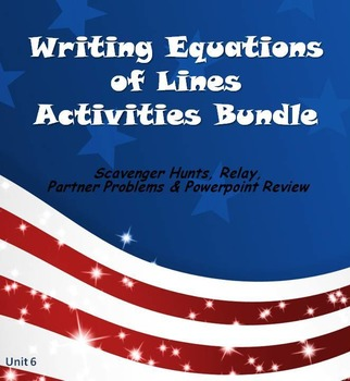 Alg 1 -- Equations of Lines Fun Reviews & Activities Bundle