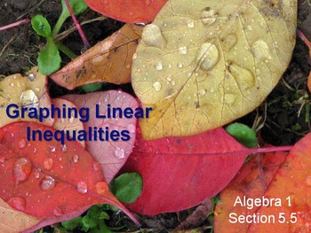 Alg 1 -- Graphing Linear Inequalities