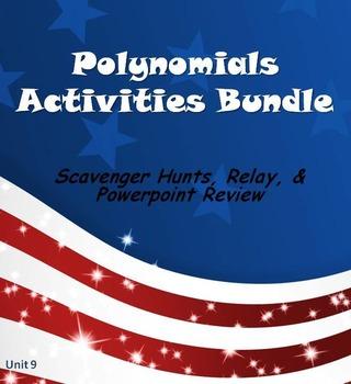 Alg 1 -- Polynomials Fun Reviews & Activities Bundle
