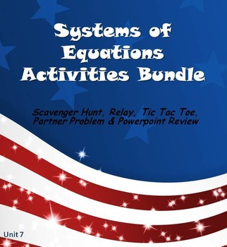 Alg 1 -- Systems of Equations Fun Reviews & Activities Bundle