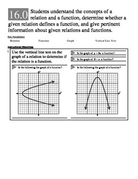 Algebra 1 (1.X): Unit 1- Expressions, Equations, and Funct