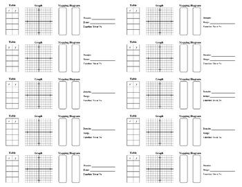 Holt Algebra 1 - Chapter 4.2 Notes Glue-in (set of 10) (DO