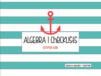 Algebra 1 - Checklists for Common Core Standards