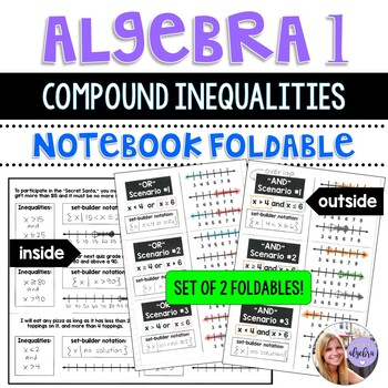 Algebra 1 - Compound Inequalities Foldables for AND and OR