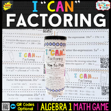 Algebra 1 Factoring Quadratics Game - Algebra 1 Math Game
