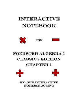 Algebra 1 Interactive Notebook for Foerster Classical Edit
