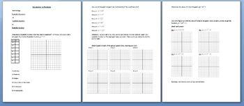 Algebra 1: Introduction to Parabolas (docx file)