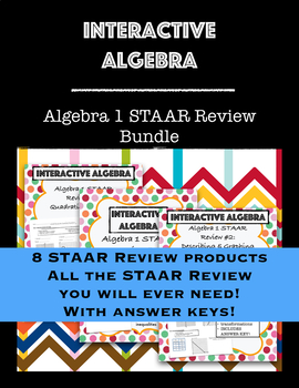 Algebra 1 STAAR Review BUNDLE Includes ALL STAAR Review products