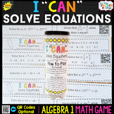 Algebra 1 Solving Equations Game - Linear, Exponential, Ra