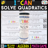 Algebra 1 Solving Quadratics by Factoring, Square Roots &