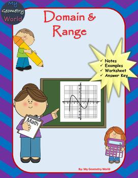 Algebra 1 Worksheet: Domain & Range