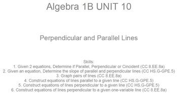 HS [Remedial] Algebra 1B UNIT 10: Parallel & Perpendicular