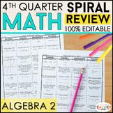 Algebra 2 Homework or Algebra 2 Warm Ups & Bell Ringers 10