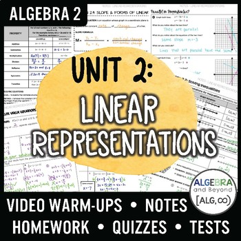 Algebra 2: Linear Representations Unit