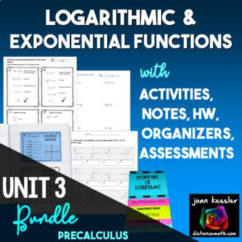 Logarithms Task Cards Quizzes QR Big Bundle