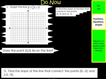 LONG HAUL: Algebra 2 Slope Intercept Smartboard #13