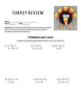 Algebra 2 Turkey Review