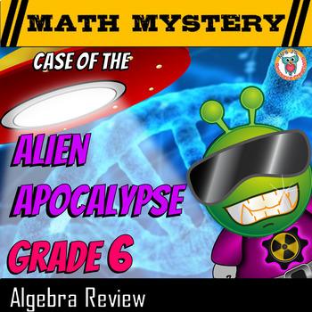Algebra Math Mystery Activity: Exponents, Expressions, Lik