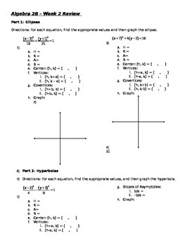 Algebra 2b - week 2 review