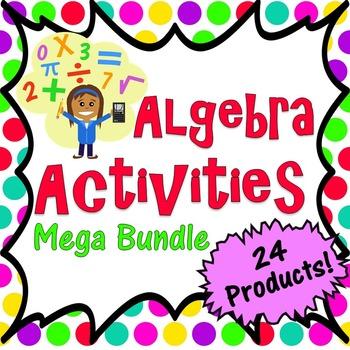 Algebra Activities Mega Bundle