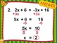 Algebra Bellwork PowerPoint - 48 days of problems