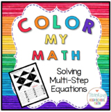 Algebra Color My Math Solving Multi-Step Equations