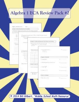 Algebra ECA Review 2 | End of Course Assessment Review She