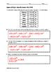 Algebra EOC Quiz - Scientific Notation BUNDLE