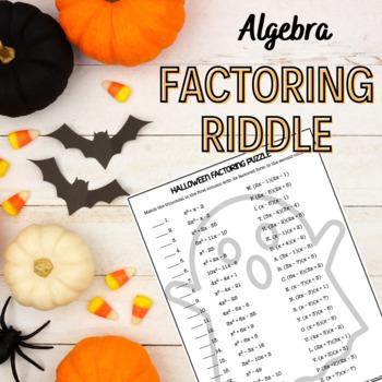 Halloween Algebra Factoring Puzzle