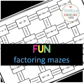 Algebra Factoring and FOIL Maze