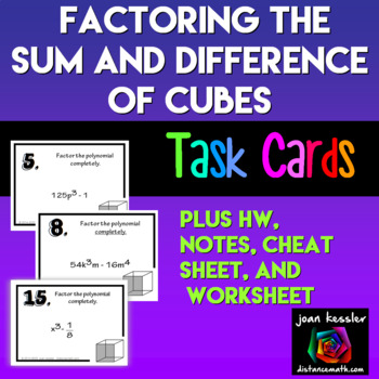 Algebra Factoring Special Binomials the Difference and Sum