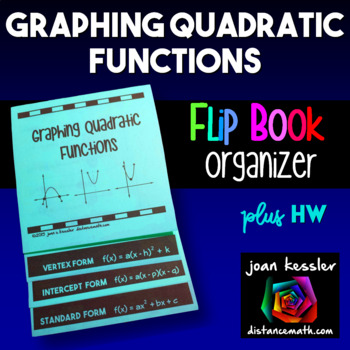 Algebra Graphing Quadratics Flip Book Foldable