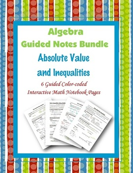 Algebra Guided Interactive Math Notebook (Bundle): Linear