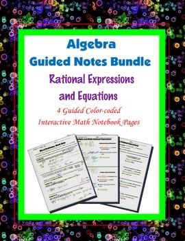 Algebra Guided Interactive Math Notebook (Bundle): Rationa
