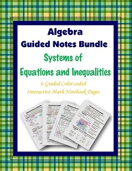Algebra Guided Interactive Math Notebook (Bundle): Systems