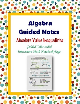Algebra Guided Interactive Math Notebook Page: Absolute Va