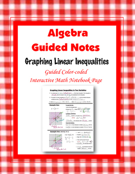 Algebra Guided Interactive Math Notebook Page: Graphing Li
