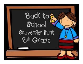 Algebra I Back to School Scavenger Hunt