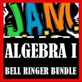 Algebra I Bell Ringer Packet Bundle (Complete School Year)