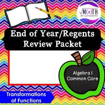 Algebra I Common Core Regents Review Topic #14- Transforma