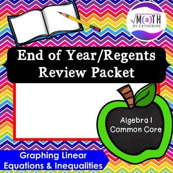 Algebra I Common Core Regents Review Topic #3- Graphing Eq