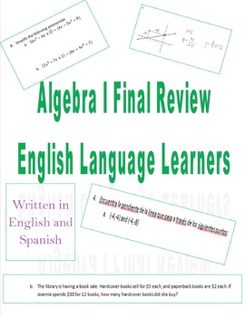 Algebra I Final Review for English Language Learners (Engl